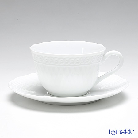 Noritake 'Cher Blanc' P94887/1655 Tea / Coffee Cup (combined) & Saucer 215ml