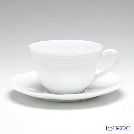 ノリタケ シェール ブラン ティー・コーヒー碗皿 P94887/1655