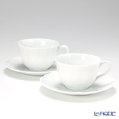 Noritake Cher Blanc Cup & Saucer Set (4 pieces), 7 oz. P94887/1655