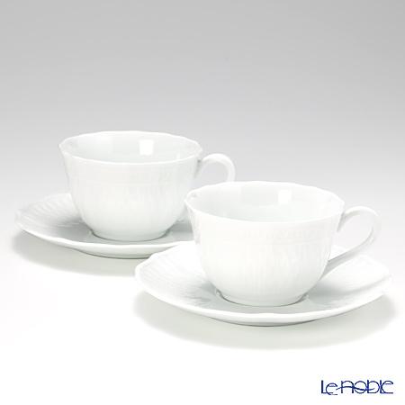 ノリタケ シェール ブラン ティー・コーヒー碗皿 ペアセット P94887/1655