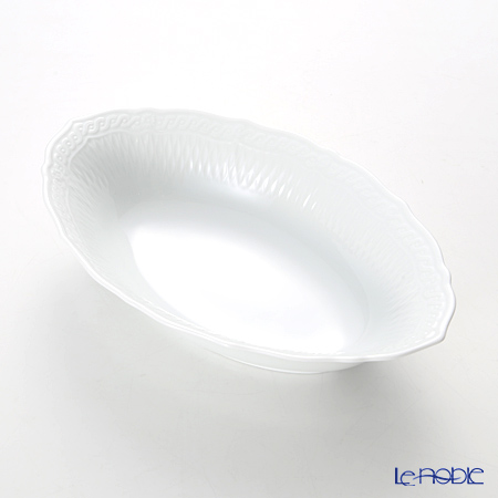 Noritake Cher Blanc Oval Bowl 25.5 cm T94838/1655
