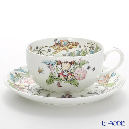 Noritake My Neighbor Totoro Milk Tea Cup & Saucer, Morning Glory T97285A/4660-4 则武 吉卜力工作室 龙猫/豆豆龙 奶茶杯碟 旋花