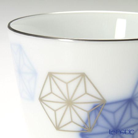 大倉陶園 岡染め 麻の葉新型マグカップ 118C/8162
