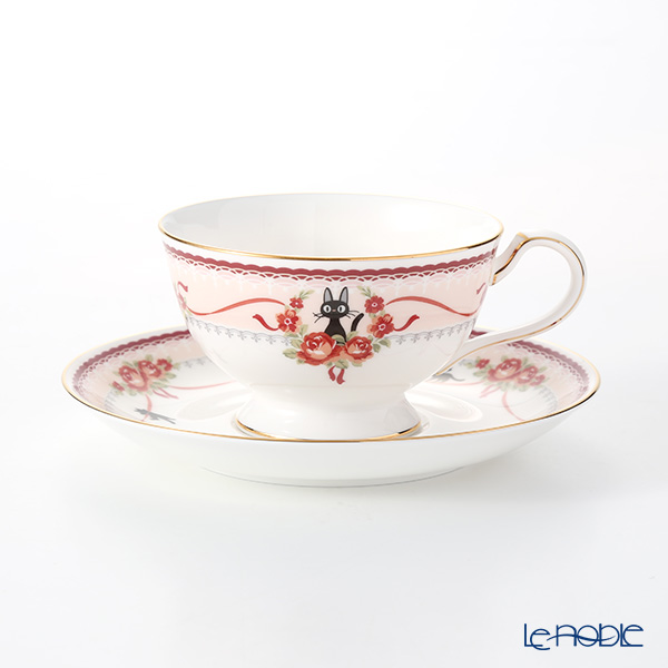 Noritake 'Kiki's Delivery Service (Cat)' Pink Tea / Coffee Combined Cup & Saucer 190ml MJ97221/H-612L 则武 '吉卜力工作室 魔女宅急便 - 黑猫吉吉' 粉色 红茶/咖啡杯碟