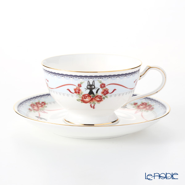 Noritake Kiki's Delivery Tea/Coffee Cup & Saucer, blue MJ97221/H-613L (Cat) 则武 吉卜力工作室 魔女宅急便 茶·咖啡杯碟(蓝色)