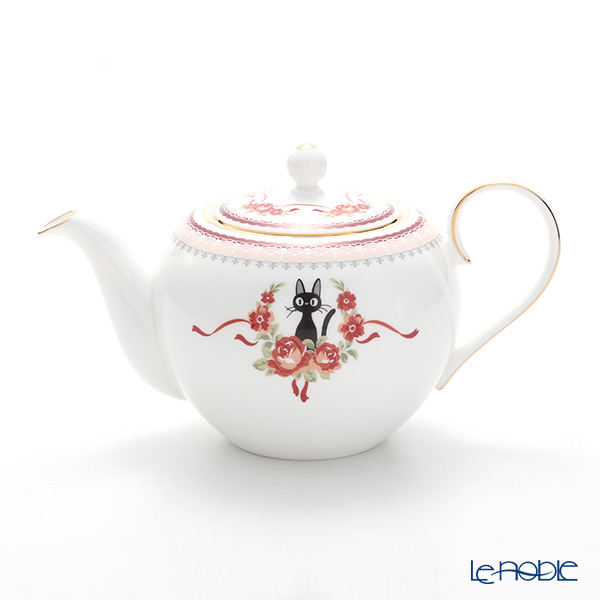 Noritake Kiki's Delivery Pot, pink MJ97284/H-612L (Cat) 则武 吉卜力工作室 魔女宅急便 茶壶(粉色)