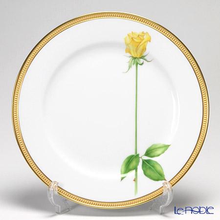 大倉陶園 一本の薔薇の花 黄サービスプレート 91H/W443-Y