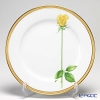 Okura Art China Simple Rose Service plate, Yellow 91H/W443-Y