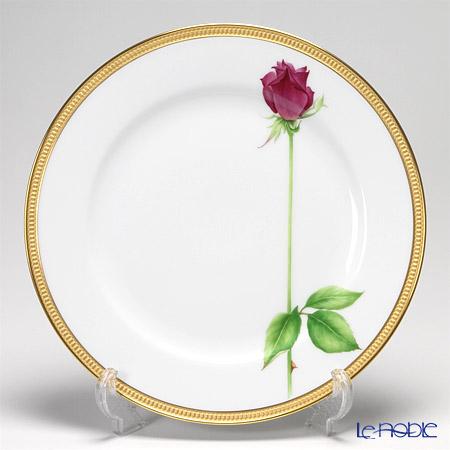 大倉陶園 一本の薔薇の花 赤サービスプレート 91H/W443-R