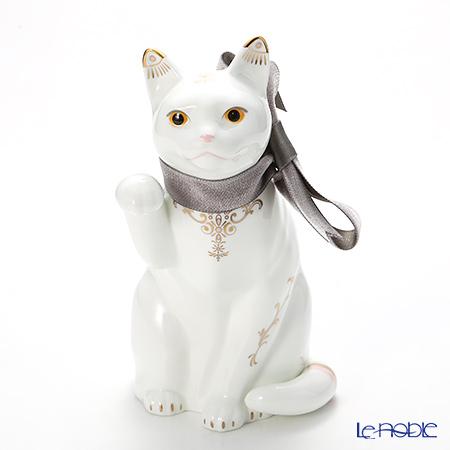 ノリタケ 招き猫ブラウンリボン T54551/AC360 金唐草