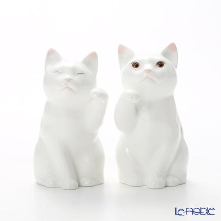 ノリタケ 招き猫 小 ペアセット P45523/AC3623