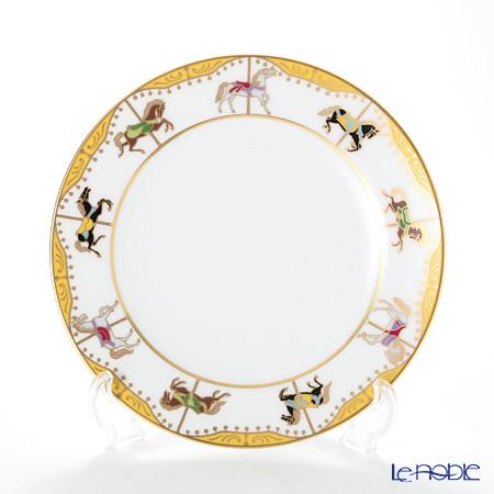 大倉陶園 うまくゆく 回転木馬 20cmデザート皿 3H/1901