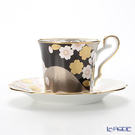 ノリタケ あやみなも T52506/4939-1 夜桜金銀彩コーヒー碗皿