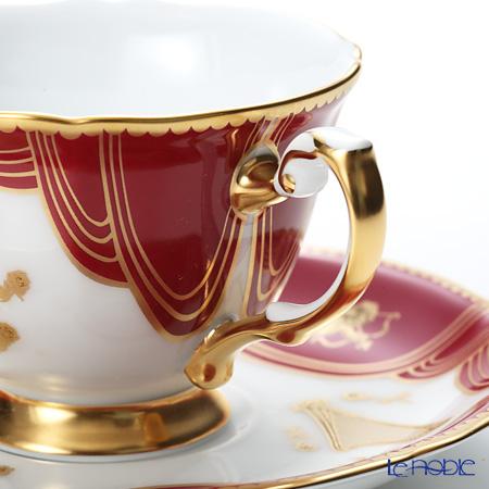 Okura Art China 'The Improvisatore - Roma Opera House and Diva' Red & Gold 76C/E184-1 Demitasse Coffee Cup & Saucer 100ml