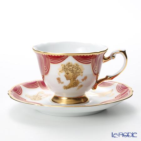 大倉陶園 即興詩人シリーズ ローマのオペラ座と歌姫デミタスカップ&ソーサー 76C/E184-1 100ml