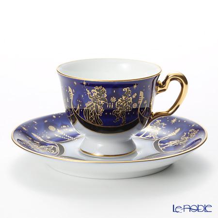 大倉陶園 即興詩人シリーズ ベニスのカーニバル デミタスカップ&ソーサー 62C/E184-6 70ml