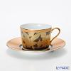 ノリタケ オマージュコレクションカプチーノ碗皿(橙絵花鳥文) T2401/H-766