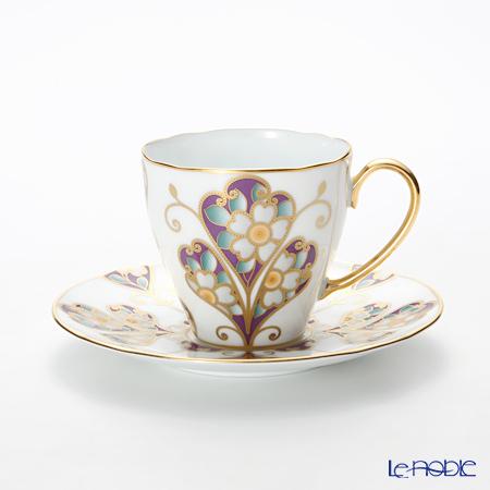 ノリタケ オマージュコレクションコーヒー碗皿(雲母金彩花文) T2403/H-771