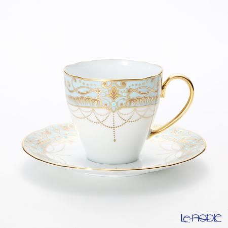 ノリタケ オマージュコレクションコーヒー碗皿(藍白絵唐草文) T2403/H-772