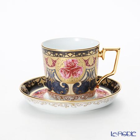 ノリタケ オマージュコレクションコーヒー碗皿(色絵薔薇文) T2402/H-769