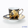 Noritake tribute collection Demitasse Cup plate (black rose emoticons) T2404/H-767