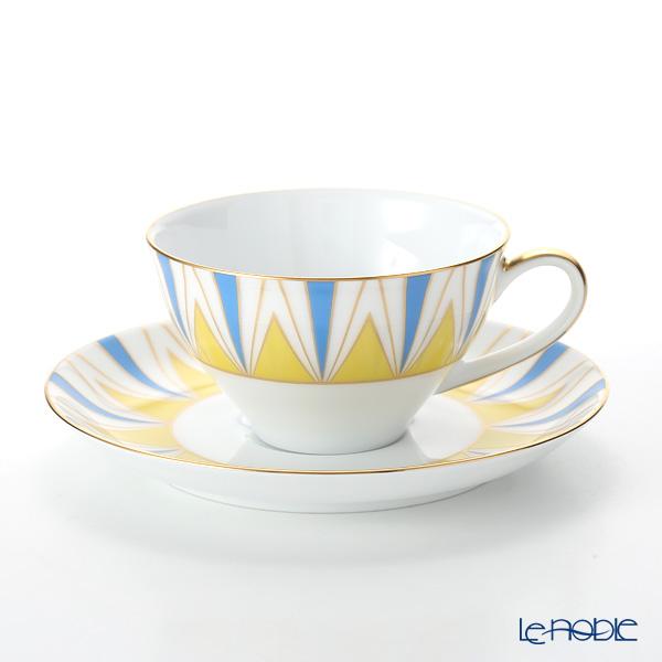 大倉陶園 100周年カウントダウン碗皿シリーズ第1弾 ティー・コーヒー碗皿 アール・デコ 30C/E194