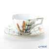 Okura Okura Art China 'Anniversary Countdown - Horsetail' 108C/E195 Tea / Coffee Cup (combined) & Saucer 170ml