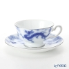 Okura Art China 'Anniversary Countdown - Dragon' Blue & Platinum 6C/E198 Tea / Coffee Cup (combined) & Saucer 195ml