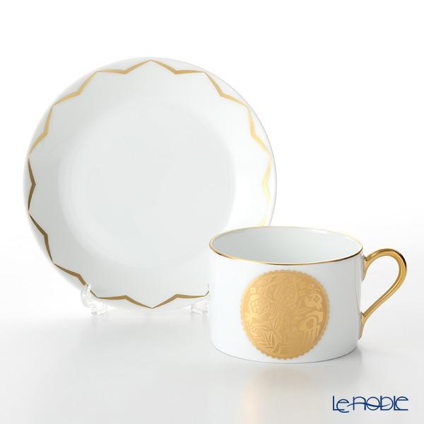 Okura Art China 'Anniversary Countdown - Pomegranate' Gold Etching 54C/E199 Tea Cup & Saucer 165ml