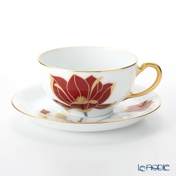 大倉陶園 100周年カウントダウン碗皿シリーズ第3弾 ティー・コーヒー碗皿 マグノリア 89C/E205