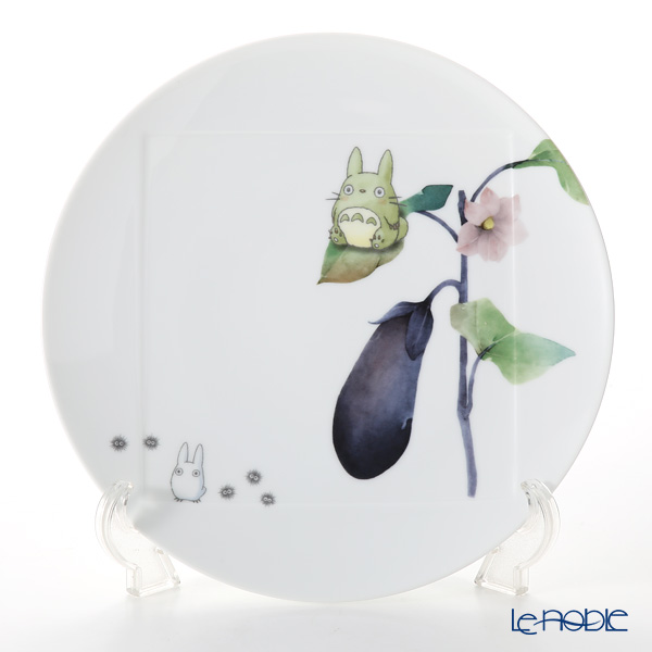 Noritake My Neighbor Totoro Vegetable Collection Plate 27 cm, Aubergine/Eggplant VT9930A/1704-1 则武 吉卜力工作室 龙猫/豆豆龙 27cm盘 茄子