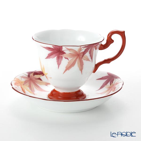 大倉陶園 碗皿暦 52C/E220 カップ&ソーサー 10月・紅葉