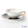 Okura Art China Bowl dish calendar 94C/E214 12 months Cup & Saucer April-Cherry Blossoms