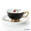 Okura Art China Bowl dish calendar 6C/E212 12 months Cup & Saucer February-Camellia