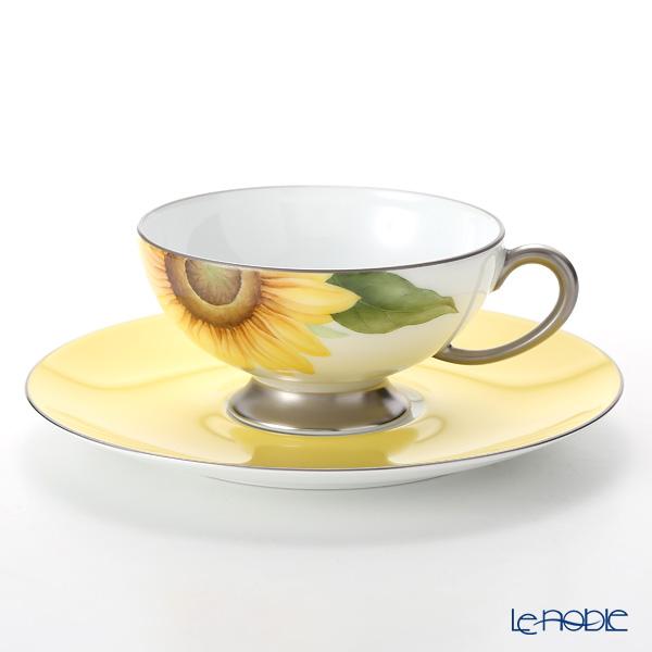 大倉陶園 碗皿暦 103C/E218 カップ&ソーサー 8月・向日葵