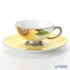 Okura Art China Bowl dish calendar 103C/E218 12 months Cup & Saucer August-Sunflower