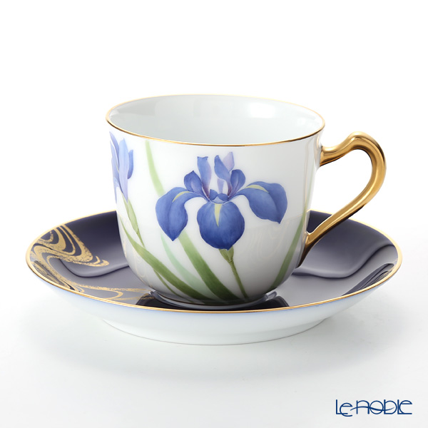 大倉陶園 碗皿暦 57C/E215 カップ&ソーサー 5月・杜若