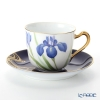 Okura Art China '12 Months / May - Iris' Royal Blue & Gold 57C/E215 Cup & Saucer 175ml