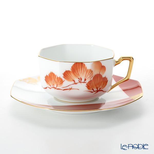 大倉陶園 碗皿暦 74C/E211 カップ&ソーサー 1月・朱松