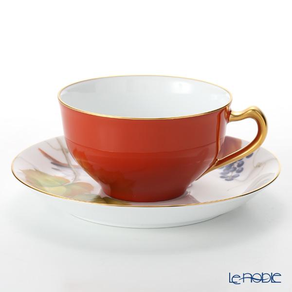 大倉陶園 碗皿暦 1C/E221 カップ&ソーサー 11月・山葡萄と駒鳥