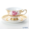 Okura Art China '12 Months / March - Peach Festival' Gold Emboss 70C/E213 Cup & Saucer 200ml