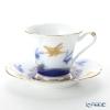Okura Art China Bowl dish calendar 80C/E219 Cup & Saucer September waves in rabbits