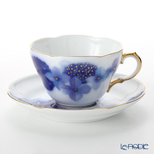 大倉陶園 碗皿暦 90C/E216 カップ&ソーサー 6月・紫陽花雨情