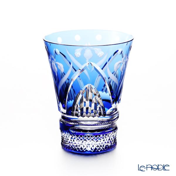 Kagami Crystal / Kiriko Flashed Glass '12 Months / Iris - May' Blue T746/2876CCB Tumbler