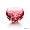 Kagami crystal kiriko glass sake Cup T591/2874 CAU March-peach blossom