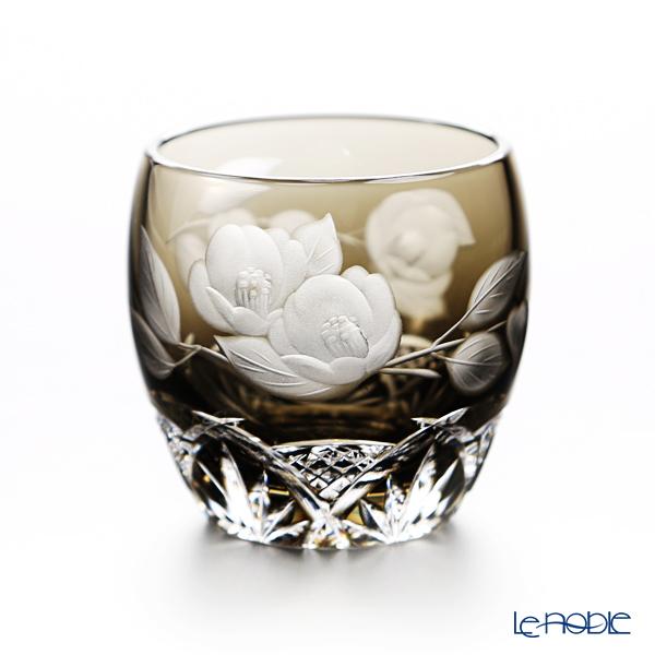 カガミクリスタル 冷酒杯 T535/2873BLK 2月・椿