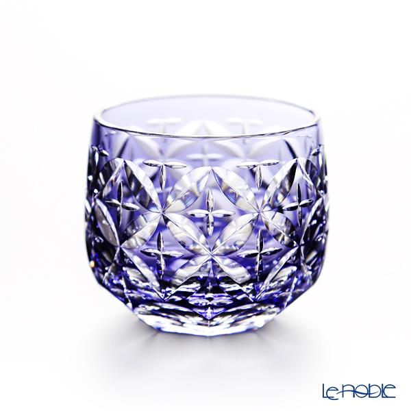 Kagami Crystal / Kiriko Flashed Glass '12 Months / Hydrangea - June' Purple T622/2877CMP Sake Cup