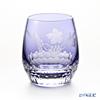 Kagami Crystal / Kiriko Flashed Glass '12 Months / Grape Vine - November' Purple T741/2882CMP OF Tumbler