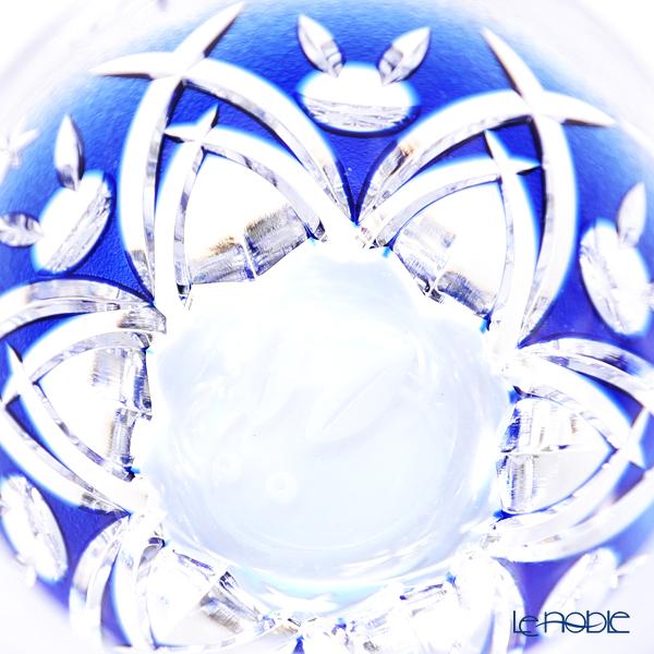 Kagami Crystal / Kiriko Flashed Glass '12 Months / Snowflake Rabbit - December' Blue T272/2883CCB OF Tumbler