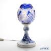 大倉陶園 ブルーローズ × カガミクリスタル 江戸切子 ブルーランプスタンド 57LQ635/8011-CCB 白熱灯電球仕様